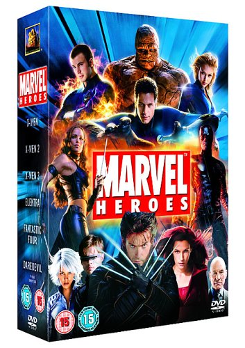 Marvel Heroes : X-Men / X-Men 2 / X-Men 3 The Last Stand / Elektra / Daredevil / Fantastic Four (6 Disc Box Set) [Region 2] [UK Import]