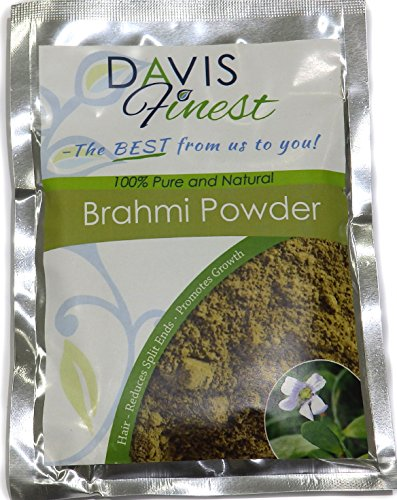 Brahmi Powder Bacopa Hair Growth Treatment for Fine Flyaway Hair - Pure Natural Skincare & Haircare - Rejuvenating Antiaging Face Mask