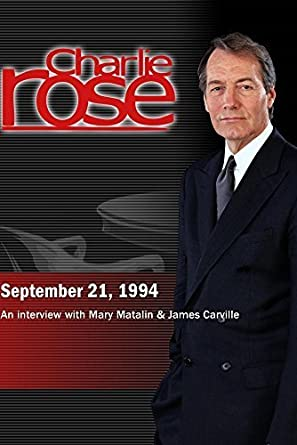Amazon com: Charlie Rose with Mary Matalin & James Carville