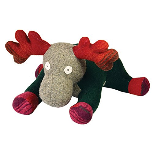 Cate and Levi 20 Handmade Moose Stuffed Animal (Premium Reclaimed Wool), Colors Will Vary