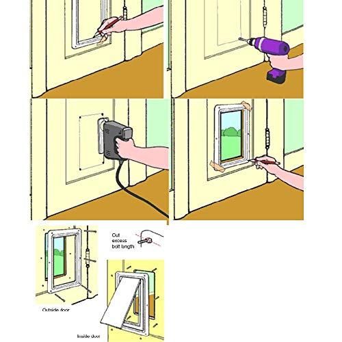 Amazon.com : Leegoal Cat Door, Magnetic Pet Door with 4 Way Lock, Waterproof Cat Flap Door with Frame for Cats, Dogs and Kittens, 7.48