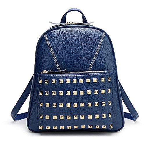 Eysee - Bolso mochila  de Piel Sintética para mujer azul oscuro