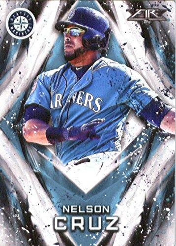 2017 Topps Fire #56 Nelson Cruz Seattle Mariners Baseball Card