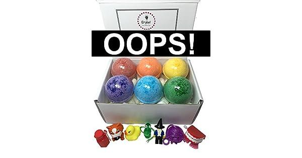 Amazon.com: Kids Oops burbuja bombas de baño (con cosméticos ...
