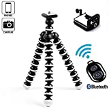 iPhone Tripod-Portable and Adjustable Phone Tripod Stand Holder-Tripod for iPhone, Cellphone,Gopro Hero, Digital SLR DSLR Cameras with Cellphone Holder Clip and Remote Shutter-Big Tripod
