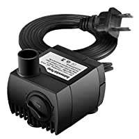 Homasy Upgraded 80 GPH (300L/H, 4W) Submersible Water Pump, 48 Hours Dry Burning Water Pump with 5.9ft (1.8m) Power Cord