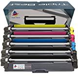 MyTripleBest® Set of 5 Compatible Laser Toner Cartridges for Brother TN-221BK TN-225C TN-225M TN-225Y High Yield Laser Toner Cartridges