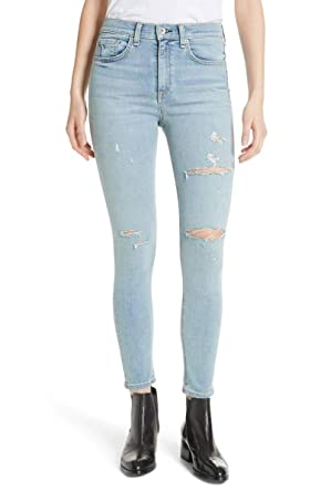 4afcb4699608 Rag & Bone/JEAN High Waist Ankle Skinny Cropped Distressed Jeans - Norlet ( 28