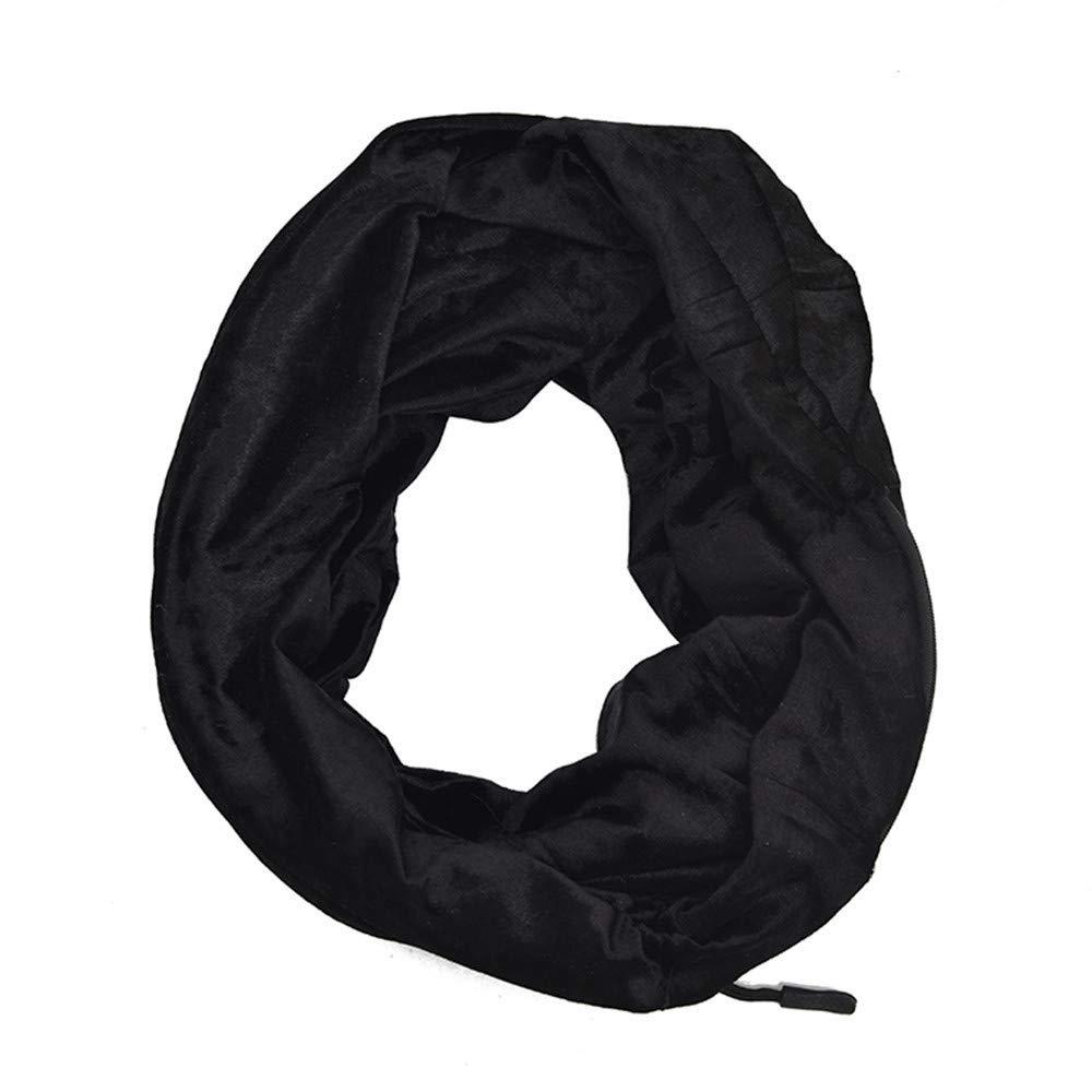 7c40bf060ac82 Amazon.com  EnjoCho Clearance Sale! Unisex Winter Velvet Warm Loop Zipper  Secret Pocket Infinity Scarf Shawl Ring