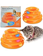Ozoosh Pets Cat Tracks Cat Toy - Fun Levels of Interactive Play for Cats - Circle Track with Moving Balls Satisfies Kitty's Hunting, Chasing and Exercising Needs