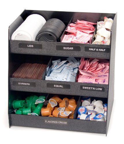 Vertiflex Vertical 3-Shelf Condiment Organizer, 9 Compartments, 14.5 x 11.75 x 15 Inches, Black (VFC-1515) by Vertiflex