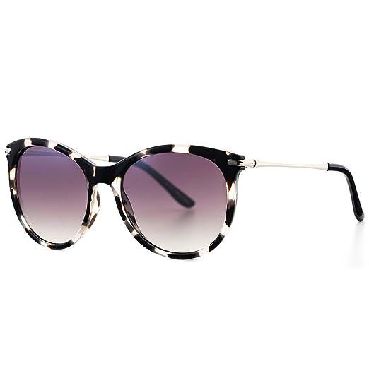 Avoalre Gafas de Sol Mujer Vintage Retro Leopardo Gafas de Sol Mujer Redondas en Moda 2019 Lentes Protección UV400 Punte de PC y Montura de Acero ...