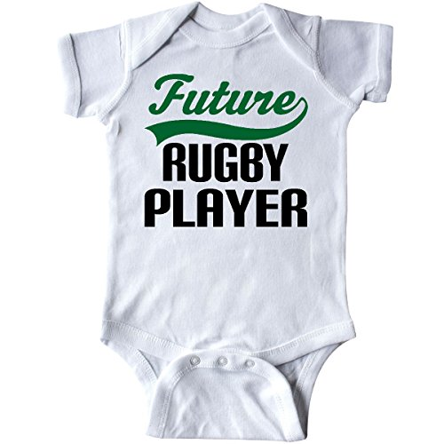 inktastic - Future Rugby Player Infant Creeper Newborn White - Baby Rugby