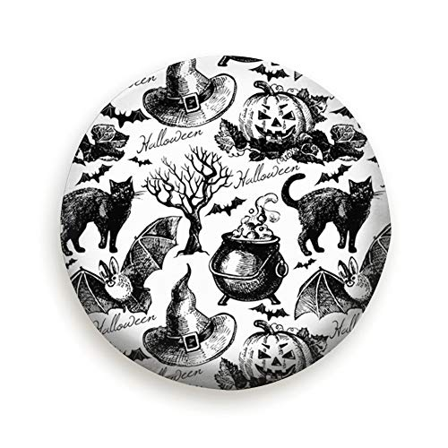 Cool pillow Tire Cover Sketch Halloween Hand Drawn Holidays Polyester Universal Spare Wheel Tire Cover Wheel Covers Jeep Trailer Rv SUV Truck Camper Travel Trailer Accessories -