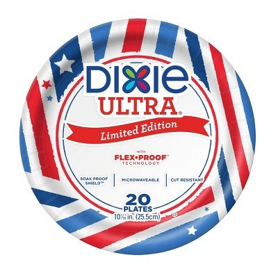 Dixie Ultra174; Limited Edition Paper Plates - 10 1/16