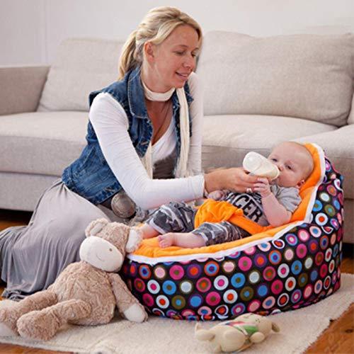 MZS Tec Baby Bean Bag, Baby Seat Nursing Bed Soft Fabric Sleeping Bag Toddler Lazy Causal Sofa (Pattern F) by MZS Tec