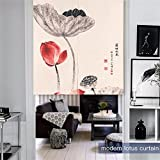MR FANTASY Japan Noren Doorway Curtain Tapestry Cotton Linen Chinese Lotus Landscape Room Divider Wall Hangings