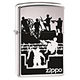 Barbwire & American Soldiers Jumping Custom Zippo Windproof Collectible Lighter. Made in USA Limited Edition & Rare (2014 Model)