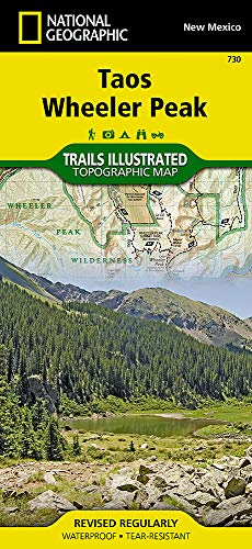Taos, Wheeler Peak (National Geographic Trails Illustrated Map)...
