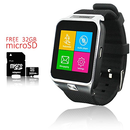 - Indigi Interchangeable Smart Watch And Phone GSM Unlocked Built-in Camera - FREE 32gb SD