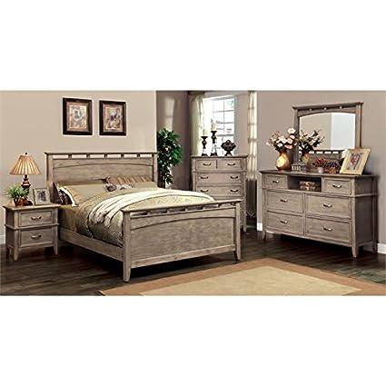 Amazon.com: Furniture of America Ackerson 4 Piece Queen ...