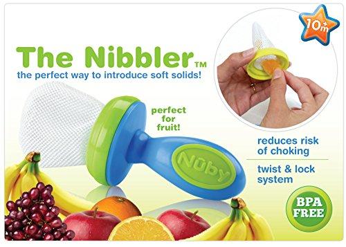 Nuby 2-Pack Nibbler Mesh Feeders, Colors May Vary