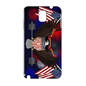 Fortune US flag and eagle sign 3D Phone Case for Samsung Galaxy Note3