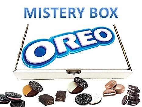 OREO MISTERY BOX con solo productos OREO mantequilla de maní, fresa cheesecake, mini choc