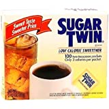 Sugar Twin Calorie Free Sweetener,  100-Count Boxes (Pack of 12)