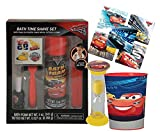 Disney Cars 6pc Bath Time Groom & Go Gift Set - Includes Bath Foam, Play Razor, Shave Brush, Comb, Rinse Cup & ''Time To Get Out'' Bath Timer! Plus Bonus Cars 3 Stickers & Tattoos!