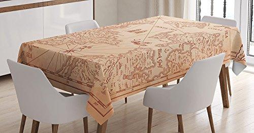 Ambesonne Tablecloth Exploration Decorations Rectangular