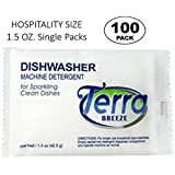 (Case of 100) Terra Breeze Automatic Dishwasher Detergent Powder - 1.5 oz Packets
