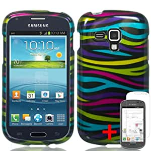SAMSUNG GALAXY AMP I407 COLORFUL ZEBRA ANIMAL COVER HARD CASE + FREE SCREEN PROTECTOR from [ACCESSORY ARENA]