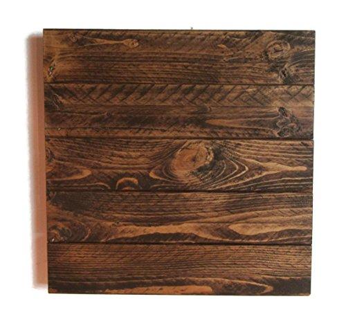 Rustic Wood Sign Blank in Dark (Rustic Wood Plaque)
