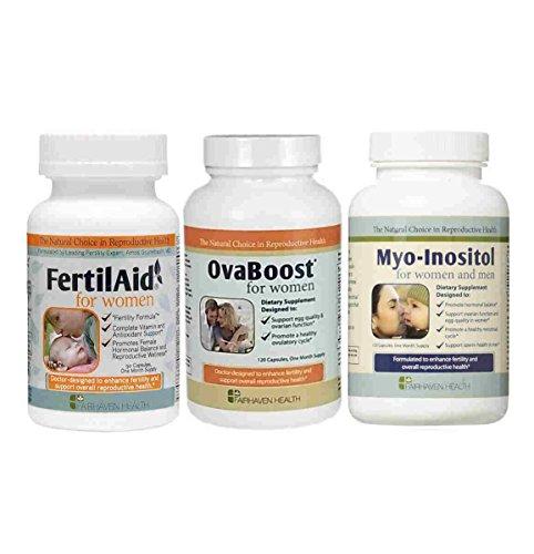 Fertilaid for Women, OvaBoost, & Myo-Inositol Fertility Supp