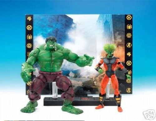 Marvel Legends Face Off Series 1 Action Figure Twin Pack Hulk vs. Leader