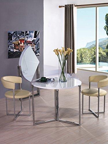 VIVA HOME H-1004WG Rosa Foldable Round Dinning Table