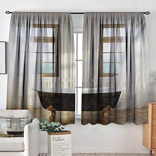 All of better Antique Blackout Window Curtain Retro Bathtub in Modern Room Interior Hardwood Classics Space Design Bedroom Blackout Curtains 72