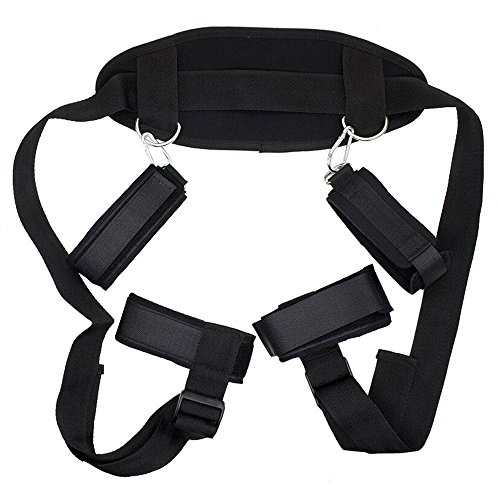 Restraint Strap (SYTY Bed Restraints Kit Wrist Thigh Leg Restraint Straps Ankle Hand Cuffs for Adult Couples Sex Play)
