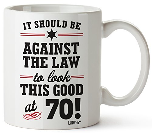 70th Birthday Gifts For Women Seventy Years Old Men Gift Mugs Happy Funny 70 Mens Womens Womans Wifes Female Man Best Friend 1949 Mug Male Unique Ideas 49 Woman Wife Gag Dad Girls Guys Good Husband]()
