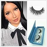 Lashes Soft Thin Natural Style Mink 3D lashes Strip 100% Siberian Fur Fake Eyelashes Hand-made False Eyelash 1 Pair Package Miss Kiss (3D01)