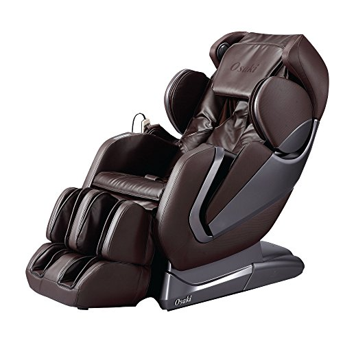 Titan Pro Alpha Zero Gravity Massage Chair, L Track, Foot Rollers, Space Saving Design, Bluetooth Speakers, FDA Massage Chair osaki Massage Chairs (Brown)
