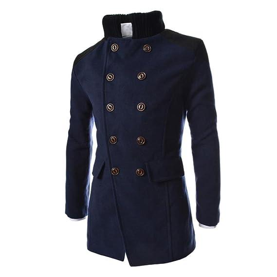 c24ee9215f4 Amazon.com  Hot Sale!Todaies Men Jacket Warm Winter Trench Long Outwear  Button Smart Overcoat M-3XL (XL