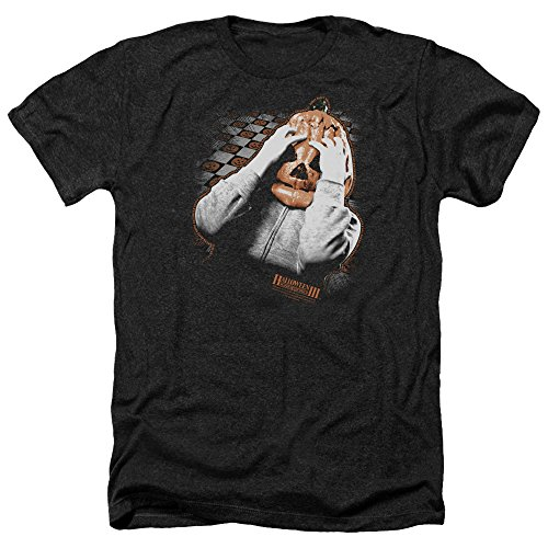 Halloween III Pumpkin Mask Mens Heather Shirt Black