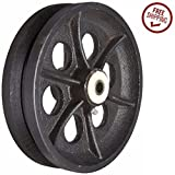 One-Steel-V-Groove-Wheel-8-x-2-with-12-ID-Roller-Bearing-1000-Load-Capacity