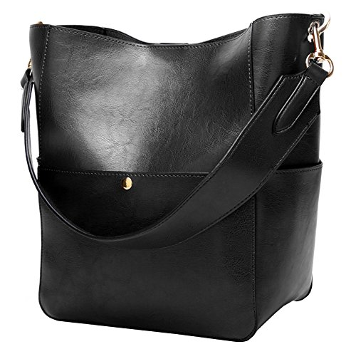 Hardware Tote Handbag - Molodo Womens Satchel Hobo Stylish Top Handle Tote PU Leather Handbag Shoulder Purse