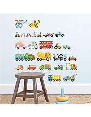 Decowall Transporte auto's voertuigen muursticker muursticker wanddecoratie voor woonkamer slaapkamer kinderkamer (1405 8015)