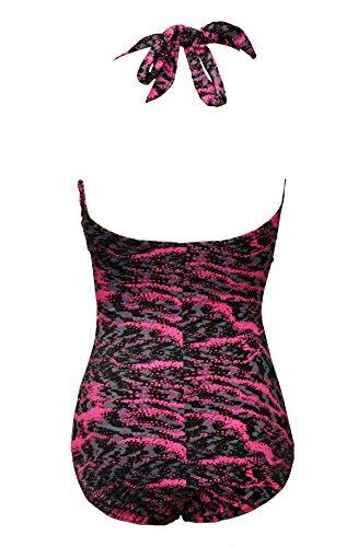 Bslingerie - Traje de una pieza - para mujer Purple Leopard Print