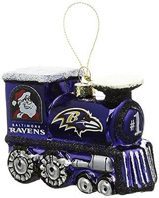 NFL Blown Glass Train Ornament