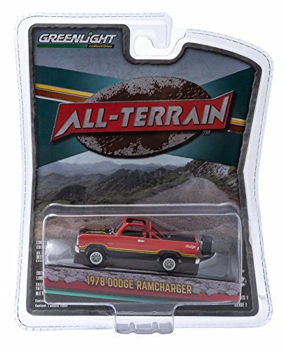 1978 DODGE RAMCHARGER (Orange) * All-Terrain Series 1 * 2015 Greenlight Collectibles 1:64 Scale Die-Cast Vehicle - Dodge Ramcharger